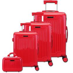 4-Piece stellte gesetztes abgleichendes Arbeitsweg-Laufkatze-Gepäck der Farben-pp. mit eingebautem Tsa Verschluss ein