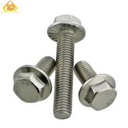 M2.5-M20 DIN6921 bride hexagonal en acier inoxydable vis striée