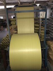PP tissés de chiffon de tissu tubulaire en rouleaux 60cm Sac tissé en polypropylène Métiers à tisser de la gaze pour les fourrages sac/sac de riz