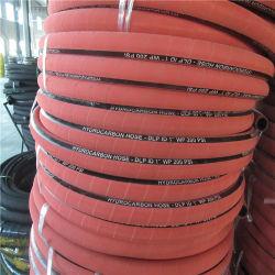 Souple en tissu noir EPDM résistant à la chaleur du fil en acier à haute pression en spirale flexible en caoutchouc renforcé de l'eau chaude / tuyau flexible de vapeur