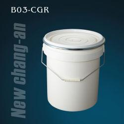 化学薬品の包装に含んでいることのためのふたそしてハンドルが付いている20L円柱プラスティック容器- B03-Cgr