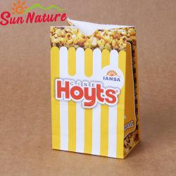 Soleil jaune de la nature de délicieux Yummy pop-corn sac de papier
