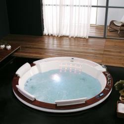 Ванная комната спа встроенный акриловый большая круглая ванна