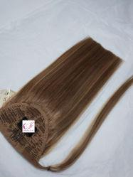 De nouveaux produits de la cuticule vierge Aligend Fédération de queue de cheval les Extensions de cheveux