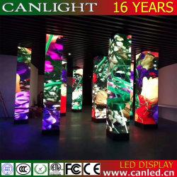 Creative forme spéciale de l'écran à affichage LED du vérin de courbe pour l'hôtel