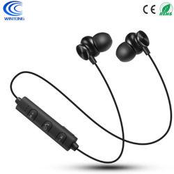 Écouteurs Bluetooth sans fil magnétique intra-auriculaires avec microphone étanche de sports de la musique des boules Quies Casque de cadeaux pour iPhone 6S Plus Samsung 8