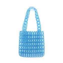 Excelentemente hechos a mano tejidos de la bolsa de Cordón de la perla en el bolso para mujer