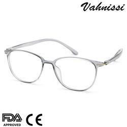 Match de forme ronde de couleur grise de lunettes optiques en plastique du châssis pour Unisex