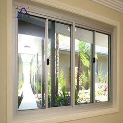 Strangpresßling-Feld des Aluminium-6063 verwendet gemildert Verglasung, Schweber-Fenster schiebend