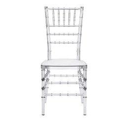 Clair de la résine plastique transparent en acrylique Chivari Tiffany chaises pour mariage