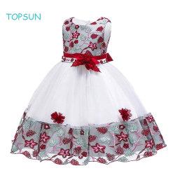 wedding Baptism Dress Sleeveless 소녀의 레이스 공주 유아 아기를 위한 형식적인 당 착용
