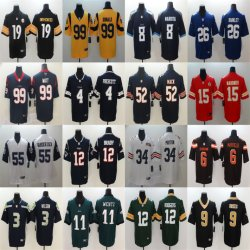 De Voetbal Jerseys van de Watts van Prescott Mayfield Barkley Rodgers Wentz van de Mackintosh van Brady