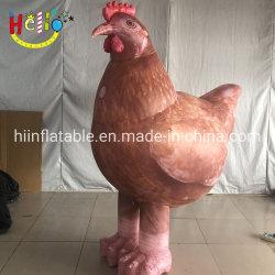 膨脹可能なリアルな鶏の衣裳を広告するカスタマイズされた動物の漫画
