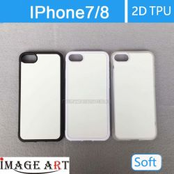 IPhone 7/8 Sublimación 2D de plástico blanco Teléfono TPU Case/cubierta para la impresión de transferencia de calor