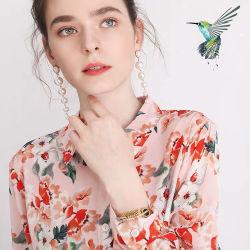 قميص أساسي مصنوع من الحرير 100% مطبوعًا بشكل مخصص