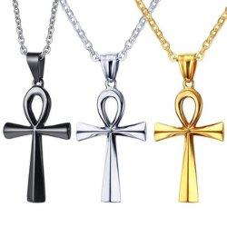 Религия египетских Ankh Распятие ожерелья и пультов управления из нержавеющей стали символом жизни Креста ожерелья украшения подарок