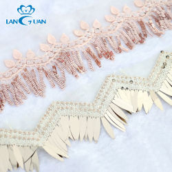 La Dentelle décorative de maillage Tassel Sequin bande pour la tenue vestimentaire