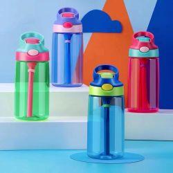 Novo Tritan violeta e verde cor de contraste frio tampa de palha Sport garrafa de água com gelo congelado Infuser