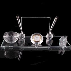 水晶表のペンのホールダーおよび名刺