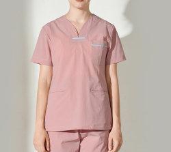 As mulheres Short-Sleeved roupas de operação da sala de funcionamento definido Hand-Washing Roupas Uniforme de enfermeiros