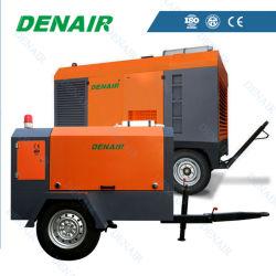 Heavy Duty Diesel Portable en deux étapes compresseurs à air du moteur de 24 bar