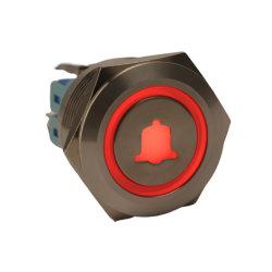 Symbole de cloche BOUTON POUSSOIR 12V 110V LED rouge allumée interrupteur électrique