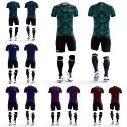 Populärer kundenspezifischer professioneller blauer FußballSport- Jerseys-Hersteller mit Zahl-Fußball-Team-Sportkleidung