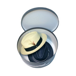 Impreso personalizado Mini Embalaje ropa al por mayor de ronda ronda decorativos cuadros Hat