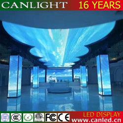 Creative forme spéciale plafond incurvé Affichage LED Flexible du vérin de mur vidéo de l'écran pour le bar et l'hôtel