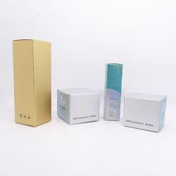 Le papier kraft bleu clair boîte cadeau cosmétique de papier personnalisé