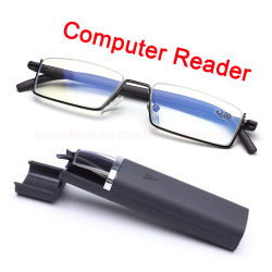 2019 gelijkstroom Optische Hete Sale Computer Glasses&#160 van de Lezer van de computer de Blauwe Lichte Blokkerende; De Oogglazen van de Glazen van de lezing met Tr90 Halve Rim Geval