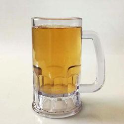 Профессиональный производитель пользовательские чашки пластиковые пиво стекла с ручкой