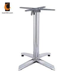 Material ecológica del tubo exterior mobiliario ajustable de aluminio de fundición de la base de la tabla de las piernas (TB-09F)