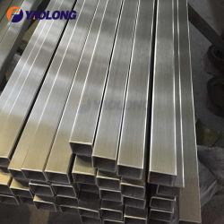 304 304L 316 316L أنبوب مستطيل من الفولاذ المقاوم للصدأ لهواء الثنيات التمشيط