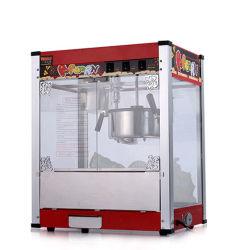 De automatische Commerciële Machine van de Popcorn van het Roestvrij staal van de Vertoning van de Popcorn van het Voedsel van de Snack