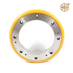 Mingze PU sur chariot élévateur électrique de base en acier roue/uréthane haute qualité palette jack rouleau