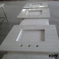 Parte superiore del controsoffitto di Kkr contro della cucina della stanza da bagno della pietra di superficie solida di marmo artificiale di vanità