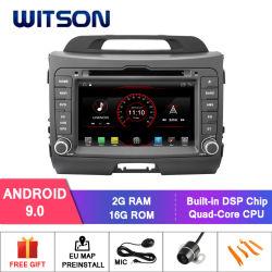 Processeurs quatre coeurs Witson Android 9.0 LECTEUR DVD pour voiture Kia Sportage (2011-2012) construit en fonction OBD