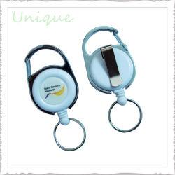 Personalizada de Fábrica Logotipo Impressão Chave retráctil ID do Molinete de plástico de cartão crachá ABS o Molinete com Metal Clip de cinto