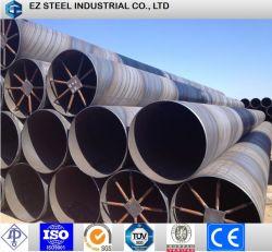 Ms черный корпус спирального стальных труб с покрытием из полиэтилена для свай/строительного материала/Фонда и воды и масла в /газа