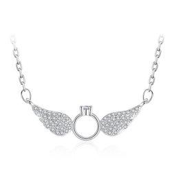 Mode Plein Simple Crystal Angel Wings Necklace cent de la personnalité de prendre robe de soirée bijoux de collier d'accessoires