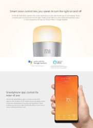 Xiaomi Yeelight Smart WiFi RGB DA LÂMPADA E27 9W 220V lâmpada LED Lâmpada Magic redutor da Alexa Google Home Mijia Home APP Telecomando