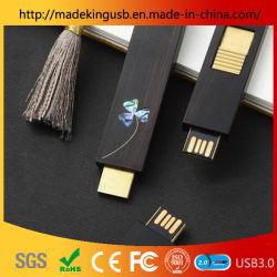 الصين نافذة زهرة خشبية دفع سحب محرك فلاش USB بالجملة عالية الجودة الخشب عصا USB للهدية الثقافية الأدبية