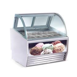 12 Bassin-Eiscreme-Schaukasten Gelato Bildschirmanzeige-Gefriermaschine