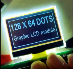 Haute qualité de l'angle de visualisation large FSTN négatif 128x64 Module LCD COG Graphique