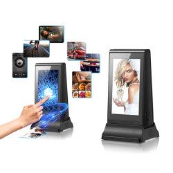 Dual 7'' écran LCD HD grand angle de l'appui des photos au format de diaporama et plusieurs vidéos jouer