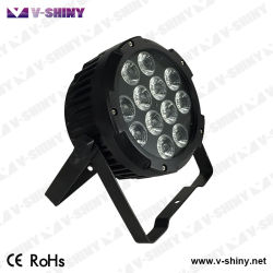 Resistente al agua Powercon 12 X 15W 6en1 Slim LED Lámpara PAR Iluminación de escenarios