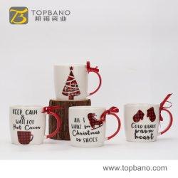 Cadeau de Noël écologique tasse tasse en céramique de sublimation personnalisé La tasse de café en provenance de Chine