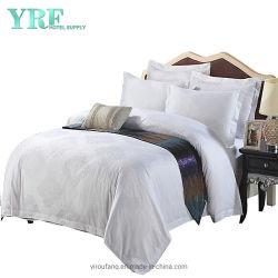 柔らかい贅沢は100%年の綿4PCSの白いホテルのコレクションのリネン羽毛布団カバーをカスタマイズした