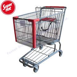 De in het groot Karretjes van de Wandelgalerij van de Kruidenierswinkel van het Staal met Zetel rijdt het Boodschappenwagentje van het Metaal van de Supermarkt